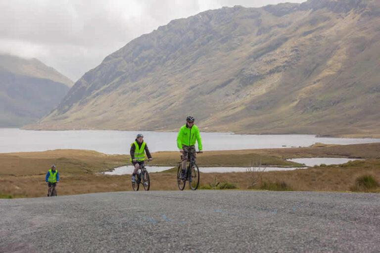 Cycling at Doo Lough Pass, Co Mayo