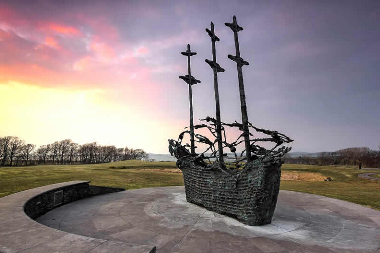 Murrisk Abbey & Famine Ship Memorial